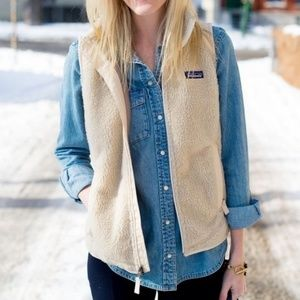 Patagonia Retro-X Vest in Natural, size Large